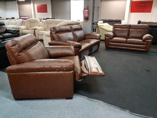 Softaly U074 3+2+1 relax bőr kanapé 1