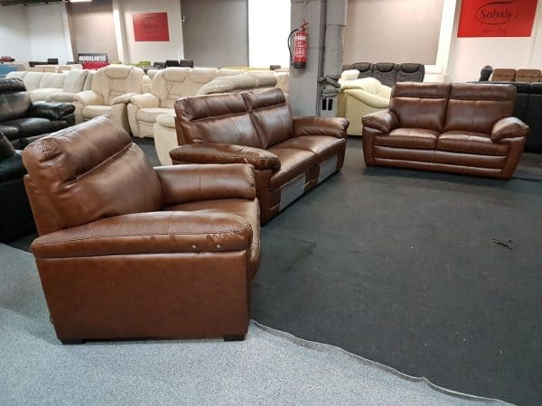 Softaly U074 3+2+1 relax bőr kanapé 10