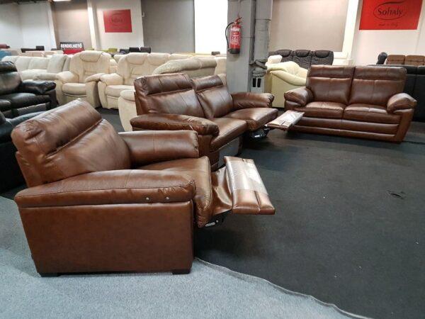 Softaly U 074 bőr 3-2-1 relax ülőgarnitúra 13
