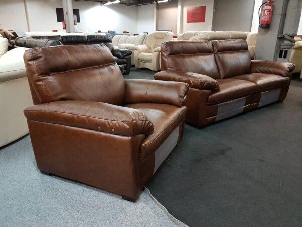 Softaly U074 3+2+1 relax bőr kanapé 11