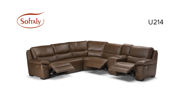 Softaly U 214 3+2+1 relax bőr kanapé 19