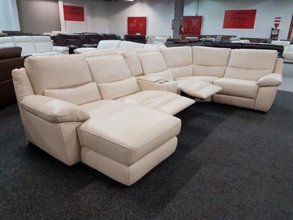 Softaly U 214 relax - Prémium bőr ülőgarnitúra 11