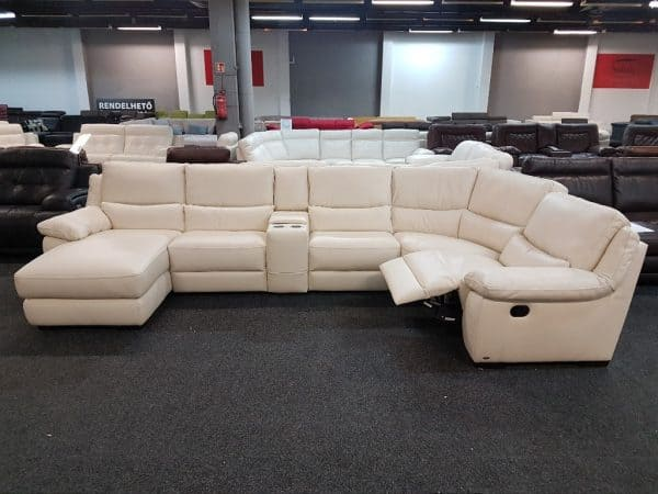 Softaly U 214 relax - Prémium bőr ülőgarnitúra 2