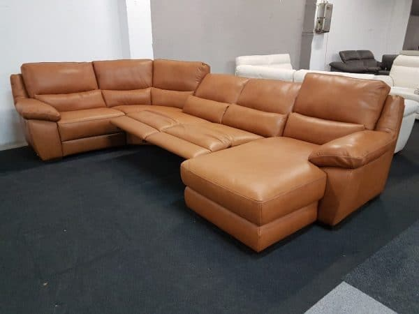 Prémium bőr ülőgarnitúra - Softaly U 214 - Chau