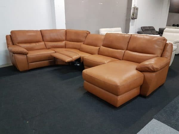 Prémium bőr ülőgarnitúra - Softaly U 214 relax