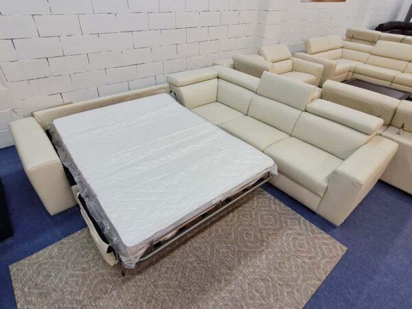 Softaly Z324 ágyazható bőr ülőgarnitúra