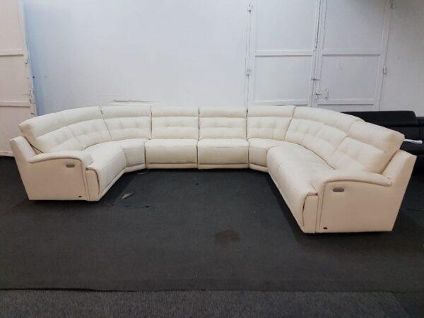 U alakú bőr ülőgarnitúra