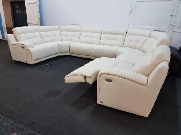 Softaly U 108 relax bőr ülőgarnitúra (U-form)