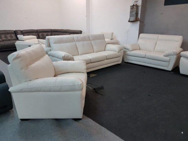 3-2-1 ülőgarnitúra bőr Softaly U 074 1