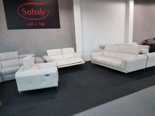 3-2-1 bőr ülőgarnitúra relax Softaly U 239