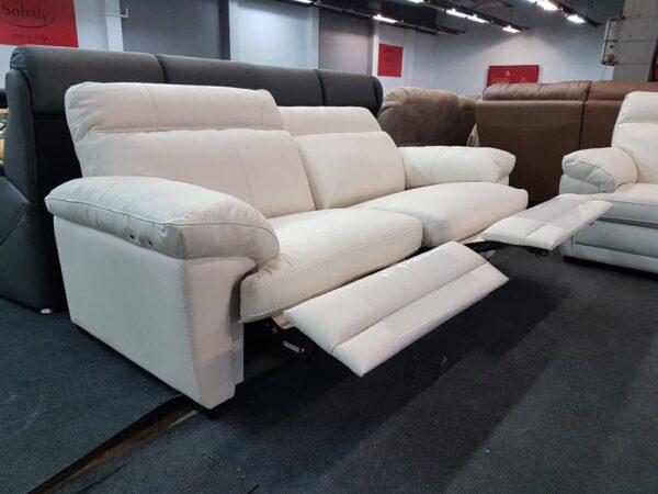 Relax funkciós valódi bőr kanapé (Softaly U 074)