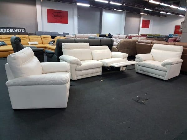 Softaly U 074 Relax bőr ülőgarnitúra 3-1-1 bőr kanapé