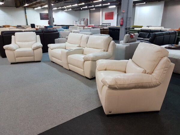 3+1+1 bőr ülőgarnitúra - Softaly 214 relax kanapé