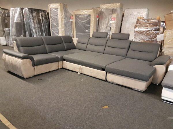 Grande U alakú, ágyazható ülőgarnitúra