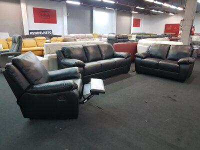 3-2-1 ülőgarnitúra - Softaly 092 Relax bőr kanapé