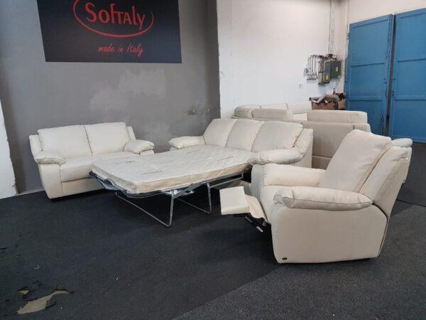 3-2-1 bőr ülőgarnitúra ágyazható, relax fotel 092