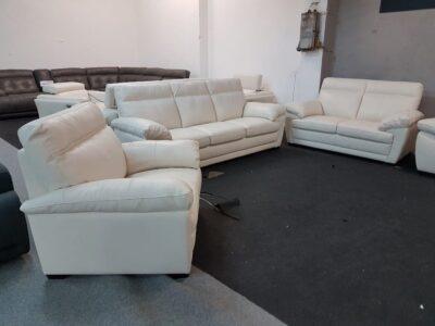 3-2-1 bőr ülőgarnitúra Softaly U 074 bőr kanapé