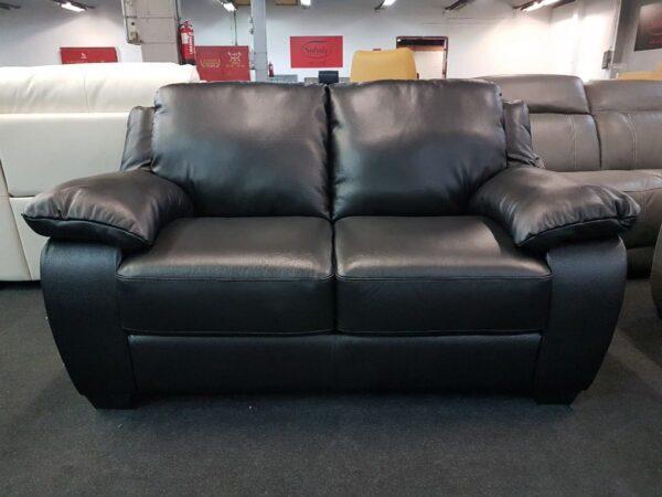 SOFTALY 092 Fekete bőr kanapé