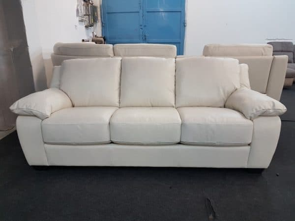SOFTALY U 092 Bőr kanapé (beige)