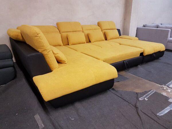 STAR kinyitható ülőgarnitúra - sárga - Multi
