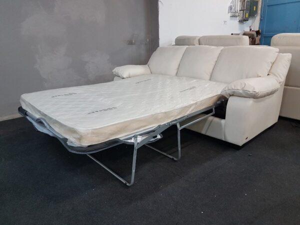 Valódi bőr, ágyazható kanapé SOFTALY U 092