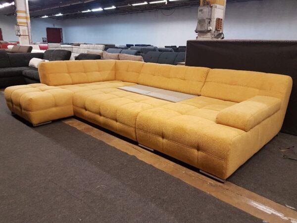 Boogie ággyá nyitható ülőgarnitúra (sárga)