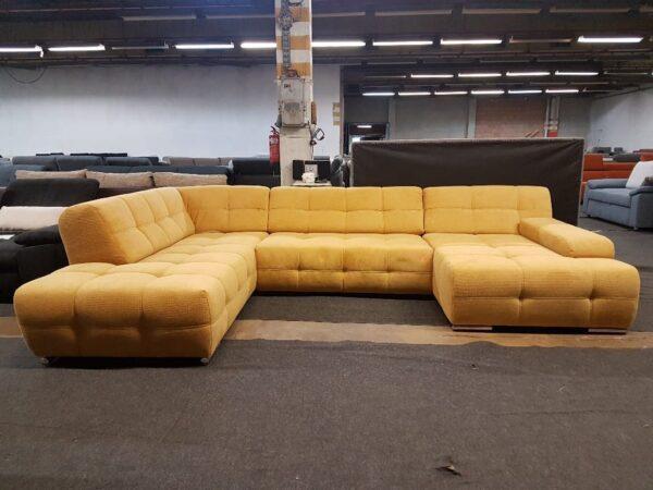 Boogie U alakú ülőgarnitúra (sárga)