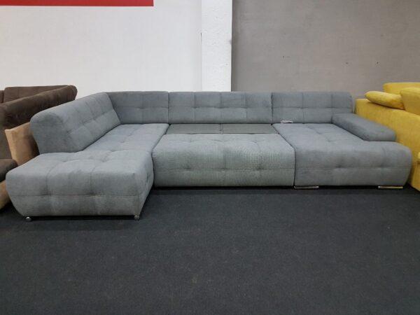 Boogie kinyitható kanapé U alakú (szürke)