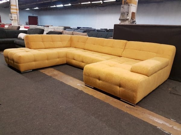 Kanizsa - Boogie U alakú ülőgarnitúra (sárga)