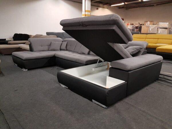 STYLE ülőgarnitúra ágyneműtartós (fekete - szürke)