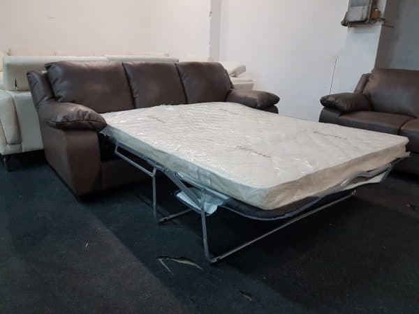Softaly U 092 ágyazható kanapé bőr