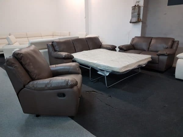 Softaly U 092 bőr kanapé ágyazható