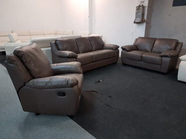 Softaly U 092 bőr kanapé 3-2-1