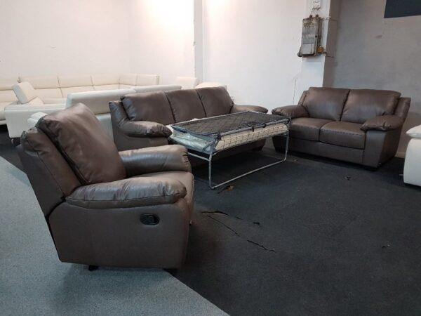 Softaly U 092 bőr kanapé kinyitható