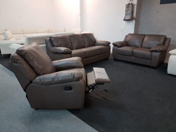 Softaly U 092 prémium bőr kanapé + relax fotel