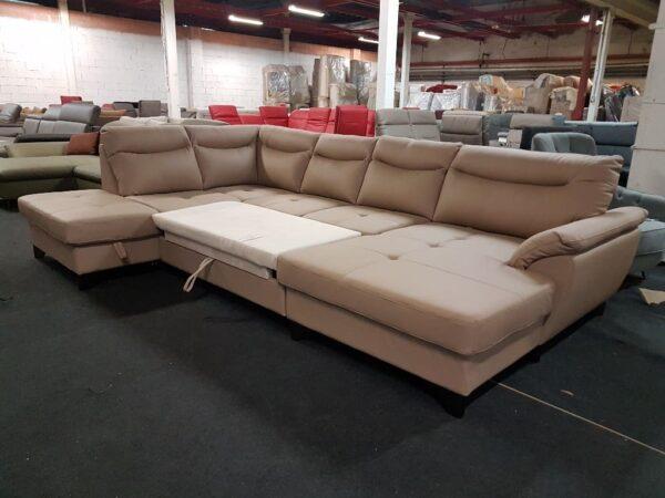 Adel bőr ülőgarnitúra - Ágyazható ülőgarnitúra