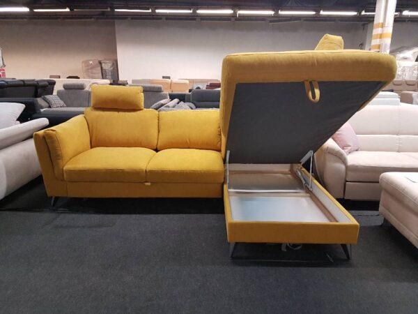 Life sarok kanapé (sárga) Leoni ülőgarnitúra