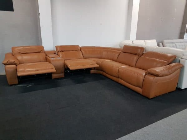 Motoros relax bőr ülőgarnitúra Softaly 076