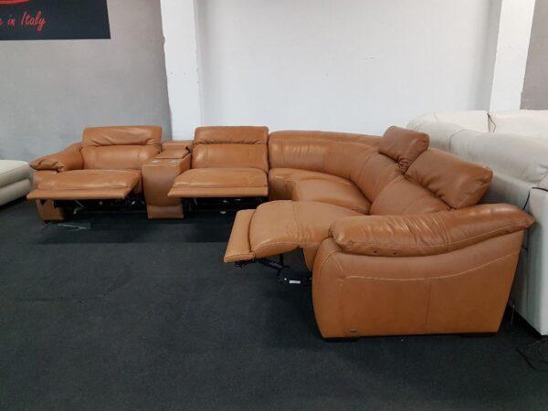 Prémium relax bőr ülőgarnitúra Softaly 076 (chau)