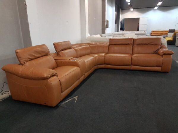 Relax bőr ülőgarnitúra Softaly 076 (chau)