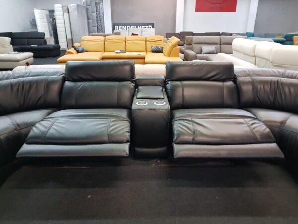 Relax funkció - Softaly 076 U alakú bőr kanapé