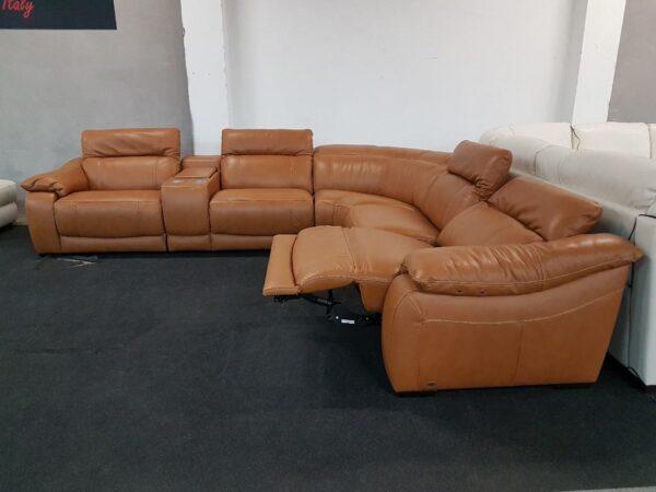 Softaly U 076 motoros relax ülőgarnitúra bőr