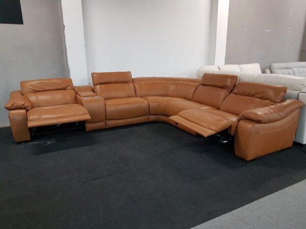 Softaly U 076 relax bőr ülőgarnitúra (Chau)