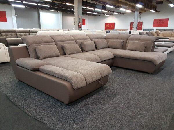 Star ülőgarnitúra U alak (barna) Multi U kanapé