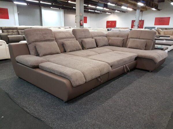 Star U alakú ülőgarnitúra (barna) multi kanapé