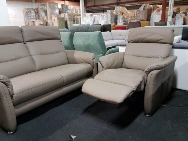 Monaco relax fotel, bőr kanapé