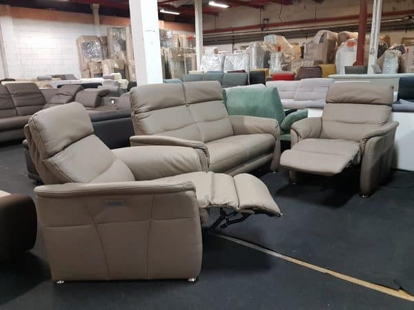 Relax fotel + Bőr kanapé MONACO
