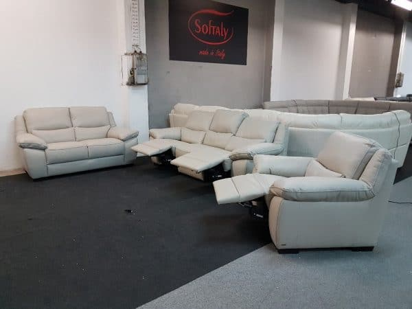 Bőr ülőgarnitúra - Softaly 214 relax kanapé