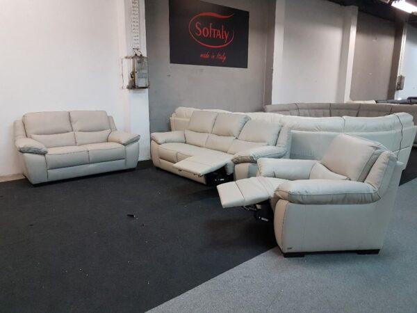 Softaly 214 bőr ülőgarnitúa relax 3-2-1