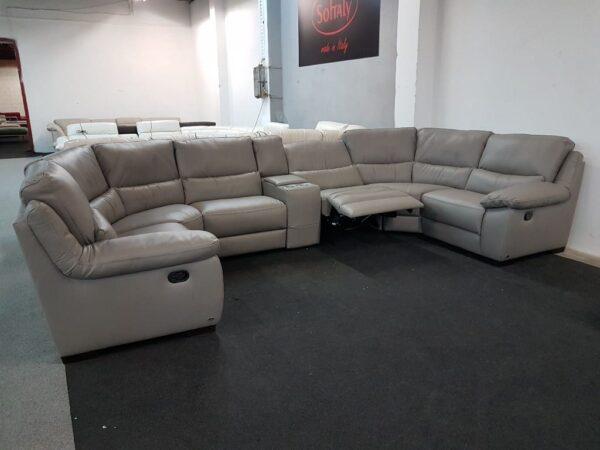 Bőr ülőgarnitúra relax SOFTALY 214